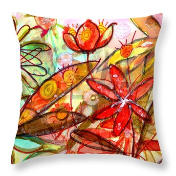 Wild Flowers Series #1 Throw Pillow by Niya Christine