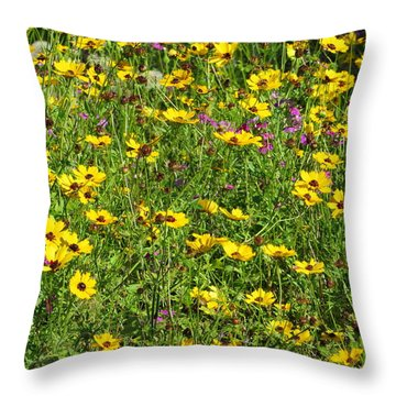 Wild Flowers Throw Pillow by Tim Townsend