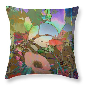 Throw Pillow featuring the digital art Wild Flowers by Ursula Freer