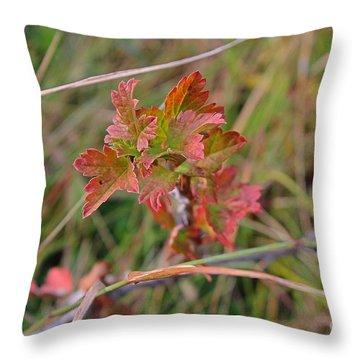 Wild Gooseberry Leaves Throw Pillow