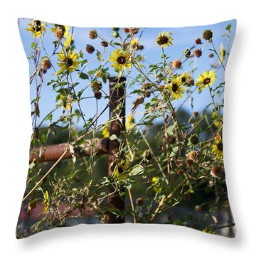 Throw Pillow featuring the photograph Wild Growth by Erika Weber
