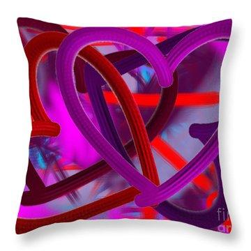 Wild Hearts Throw Pillow