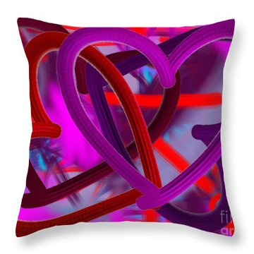 Throw Pillow featuring the painting Wild Hearts by Go Van Kampen