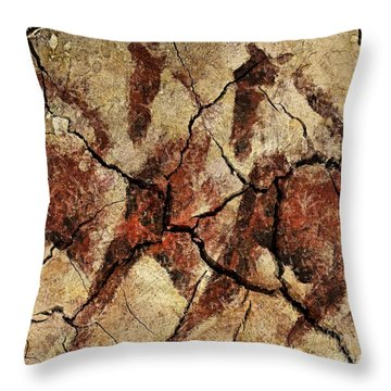Wild Horses - Cave Art Throw Pillow by Dragica  Micki Fortuna
