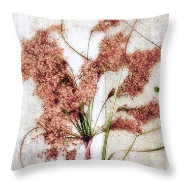 Wild Indian Rice In Autumn #2 Throw Pillow by Louise Kumpf