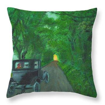 Wild Irish Roads Throw Pillow