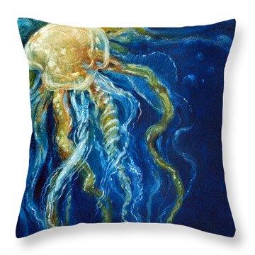 Wild Jellyfish Reflection Throw Pillow