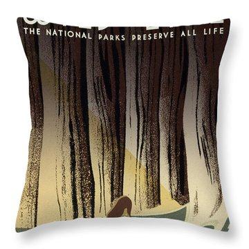 Wild Life Poster, C1940 Throw Pillow by Granger