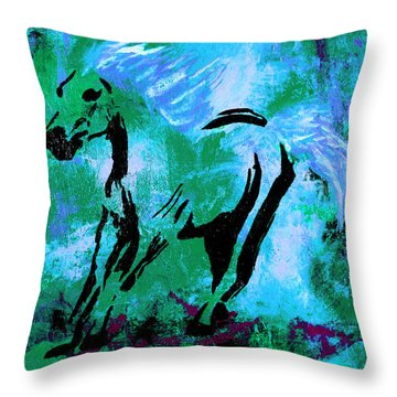 Wild Midnight Throw Pillow