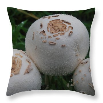 Throw Pillow featuring the photograph Wild Mushrooms by Miguel Winterpacht