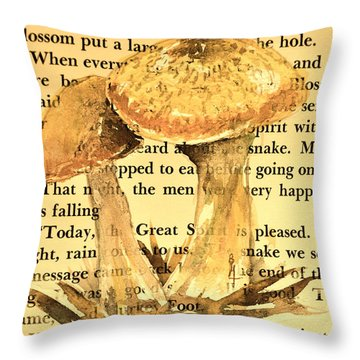 Wild Mushrooms Warm And Subtle Throw Pillow by Beverley Harper Tinsley