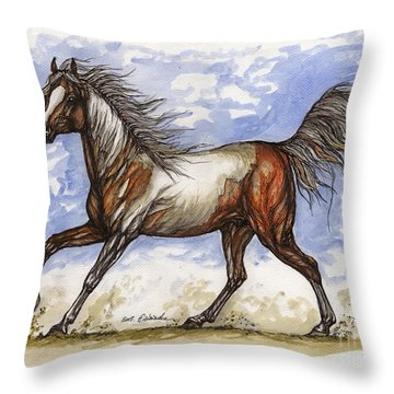 Wild Mustang Throw Pillow by Angel  Tarantella