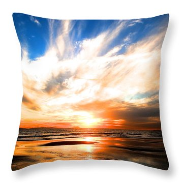 Wild Night Sky Throw Pillow by Margie Amberge