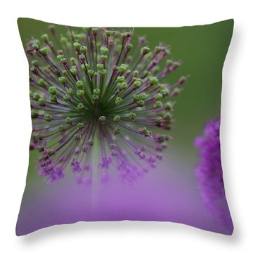 Wild Onion Throw Pillow