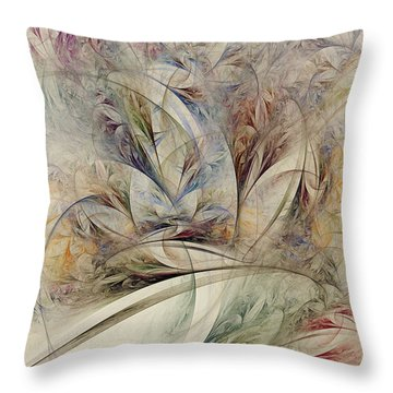Throw Pillow featuring the digital art Wild Orchid by Kim Redd