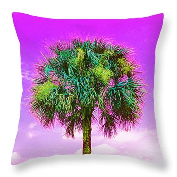 Wild Palm 4 Throw Pillow