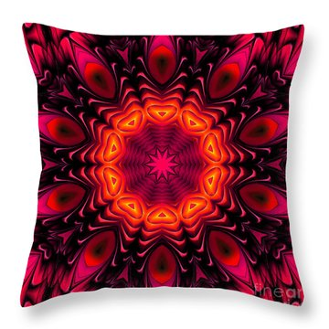 Throw Pillow featuring the digital art Wild Pink by Hanza Turgul