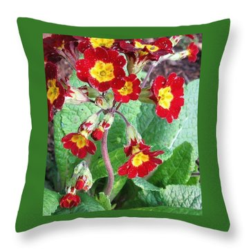 Wild Primroses Throw Pillow