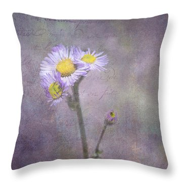 Wild Purple Aster  Throw Pillow by Betty  Pauwels