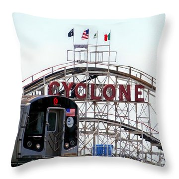 Throw Pillow featuring the photograph Wild Rides by Ed Weidman