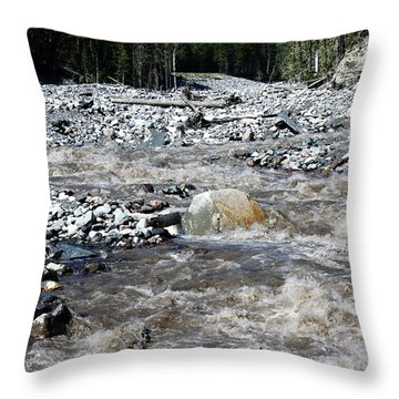 Wild River Throw Pillow