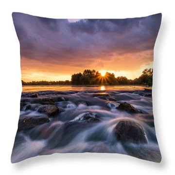 Wild River II Throw Pillow by Davorin Mance