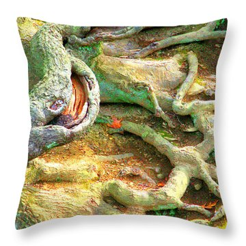 Wild Roots By Christopher Shellhammer Throw Pillow