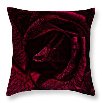 Throw Pillow featuring the photograph Wild Rose by Kathy Churchman