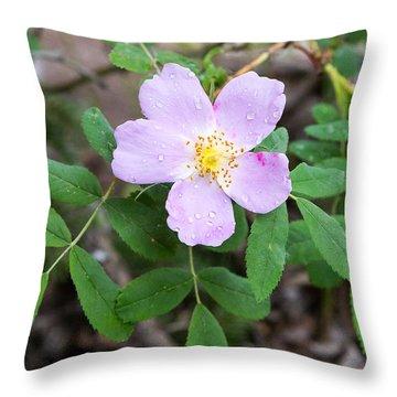 Wild Gentian Throw Pillow