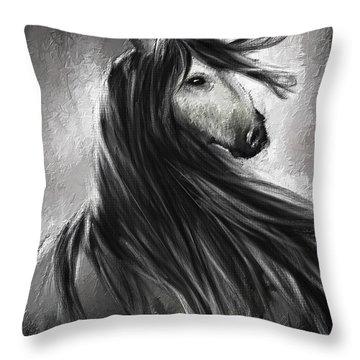 Wild Soul- Fine Art Horse Artwork Throw Pillow