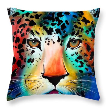 Throw Pillow featuring the painting Wild Thing by Dede Koll