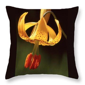 Wild Tiger Lily Throw Pillow
