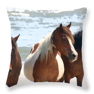Wild Trio Throw Pillow by JB Stran