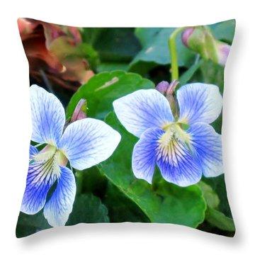 Wild Violets Throw Pillow