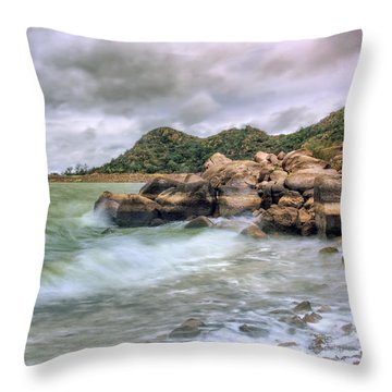 Wild Weather On Lake Altus - Oklahoma - Quartz Mountains Throw Pillow