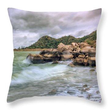 Wild Weather On Lake Altus - Oklahoma - Quartz Mountains Throw Pillow
