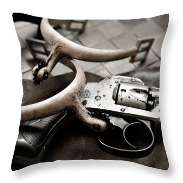 Throw Pillow featuring the photograph Wild West by Susan Leggett
