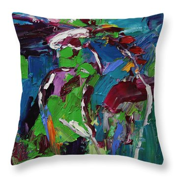 Wild Wind Horse 17 Out Of 100 2014 Throw Pillow