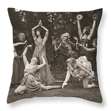 Wild Women Dance 1924 Throw Pillow by Padre Art