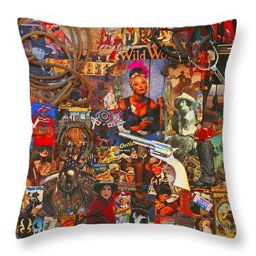 Wild Women Of The West Art Poster Throw Pillow