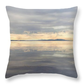 Throw Pillow featuring the photograph Wildcat Cove Along Chuckanut Drive In Washington by JPLDesigns