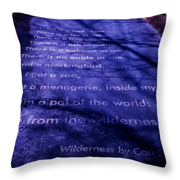 Wilderness - Carl Sandburg Throw Pillow