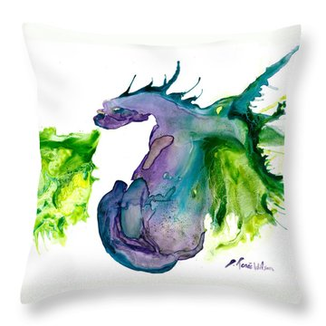 Wildfire And Water Dragon Throw Pillow