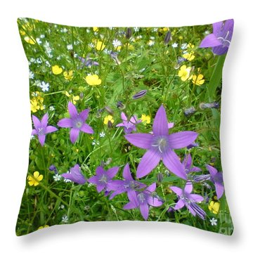 Throw Pillow featuring the photograph Wildflower Garden by Martin Howard