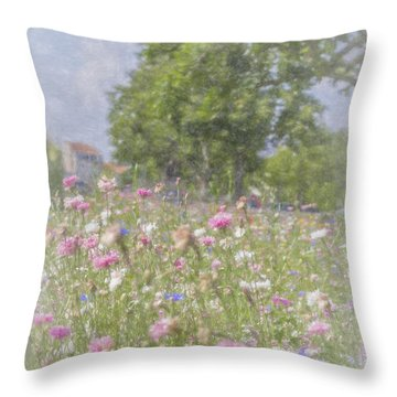 Wildflower Impressionism Throw Pillow