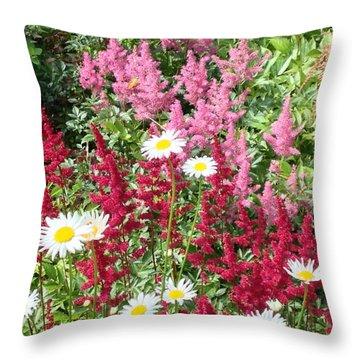Wildflower Medley Throw Pillow