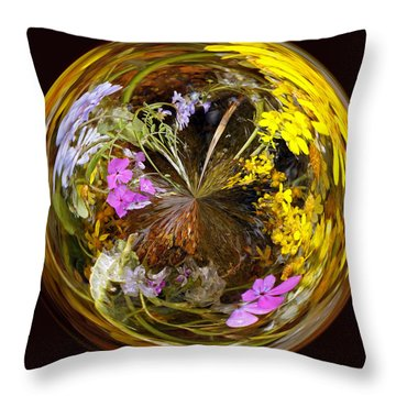 Throw Pillow featuring the photograph Wildflower Paperweight by Gary Holmes