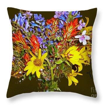 Wildflower Reminiscences Throw Pillow
