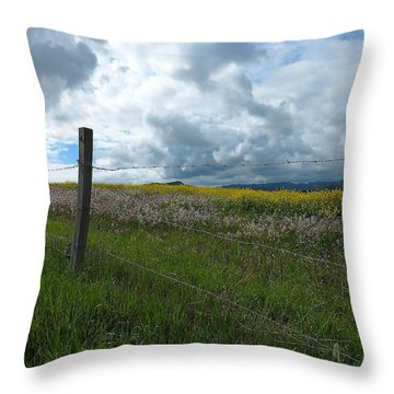 Wildflower Showers Throw Pillow by Paul Foutz
