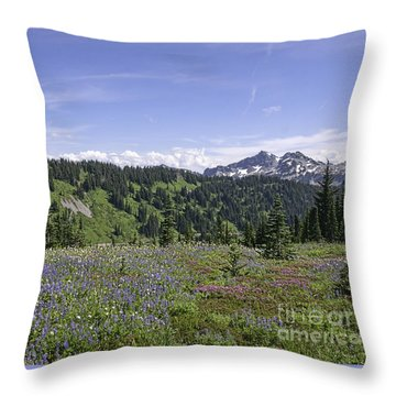 Wildflower Vista Throw Pillow